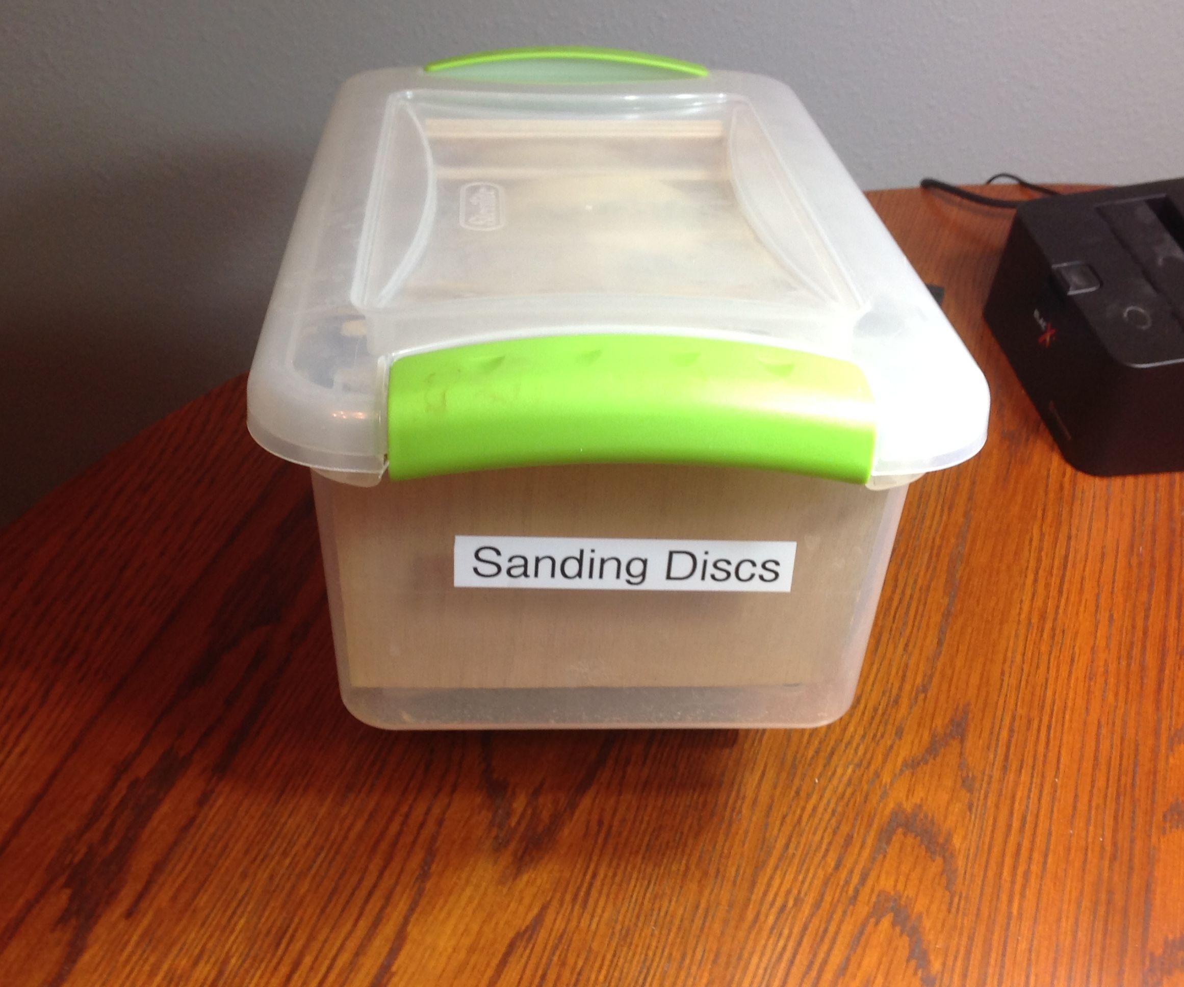 Simplified Sanding Disc Storage