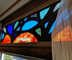 Wood and Stained Glass Window