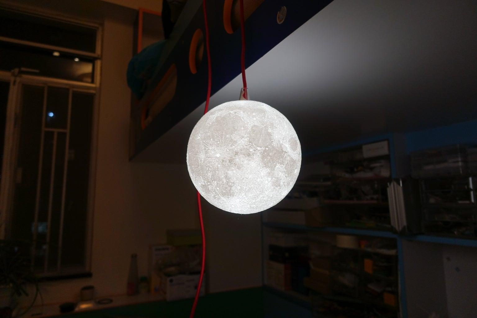 IKEA SEKOND Pendant Moon Lamp