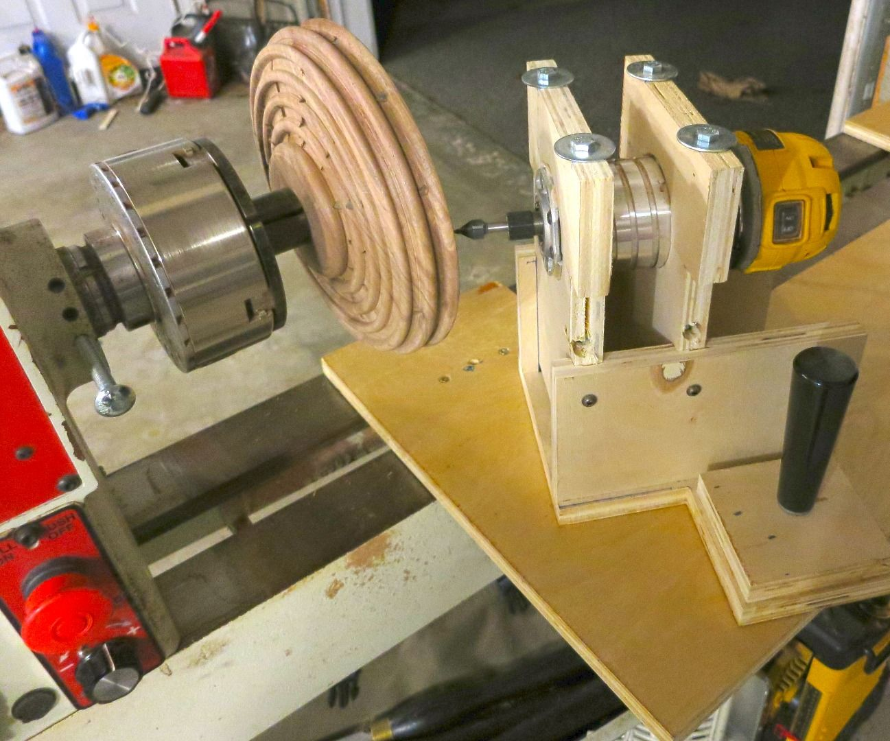 Router Fluting Jig for Wood Lathe