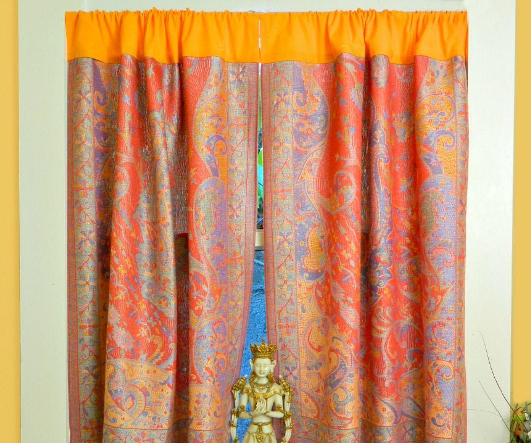 No Sew Boho Curtains