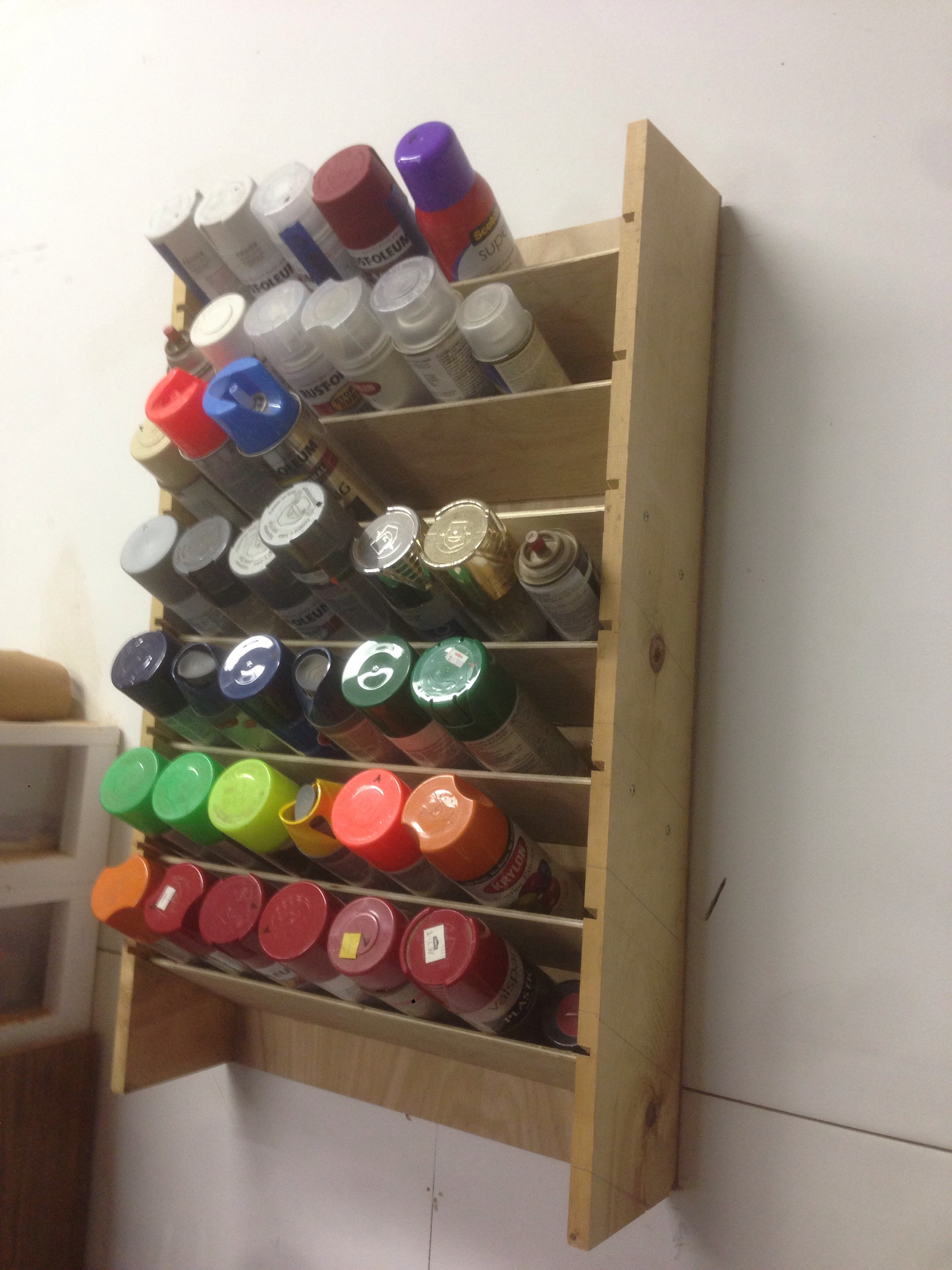 Spray Can Rack 12 Steps With Pictures Instructables