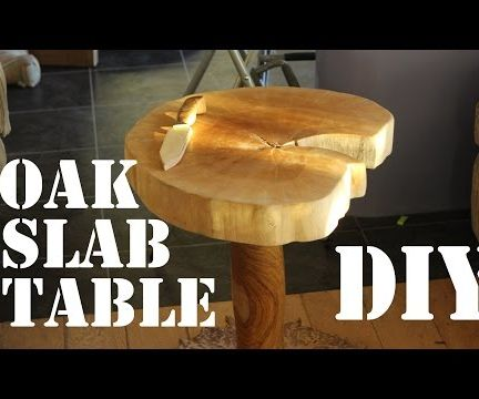 How to Make an Oak Slab Coffee Table for £20!
