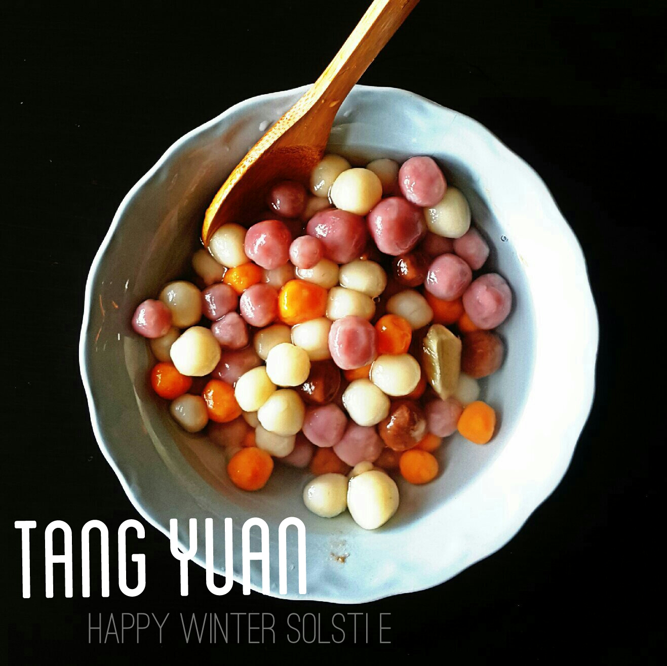 Cute Shaped Tang Yuan - Plain Glutinous Rice Balls in Ginger Syrup.