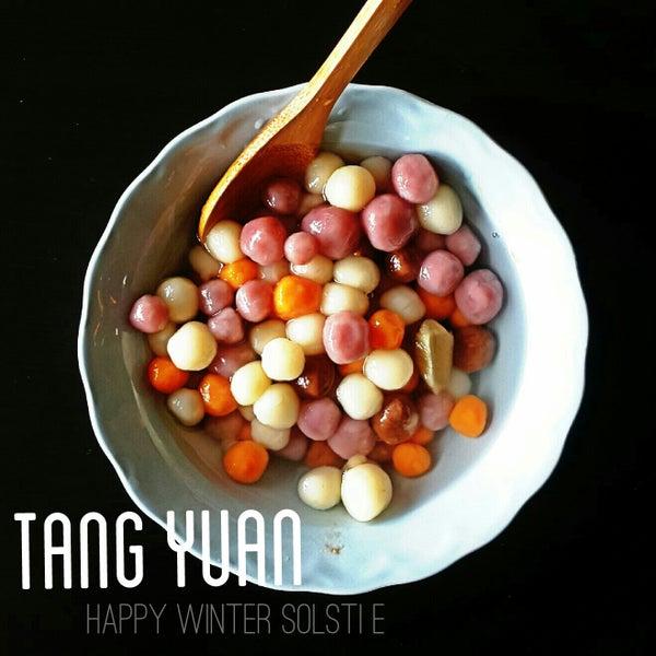 Cute Shaped Tang Yuan - Plain Glutinous Rice Balls in Ginger Syrup.