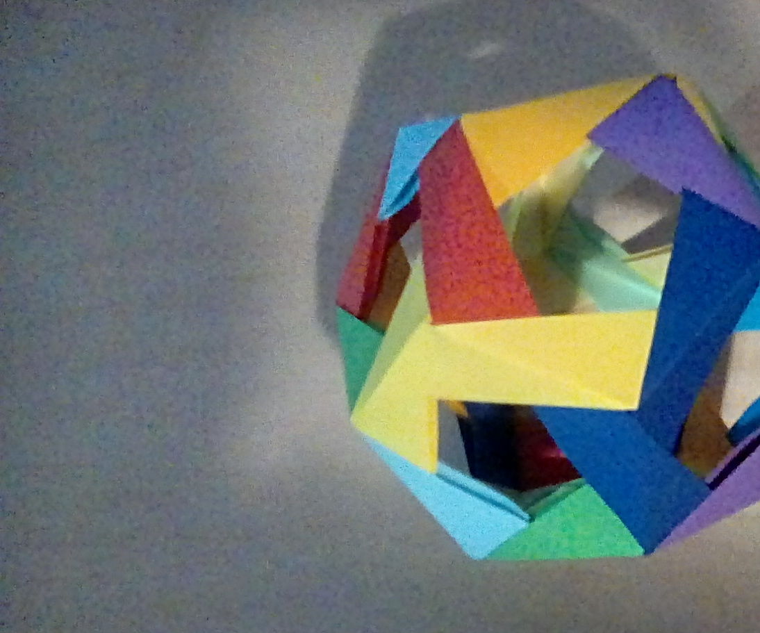 Modular Origami Dodecahedron With Windows