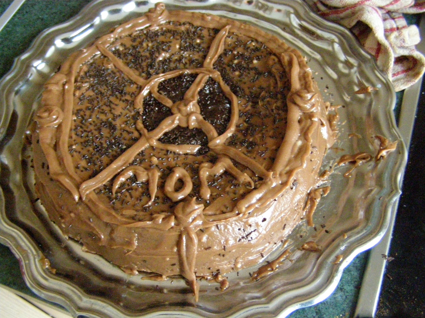 """The """"Way Too Chocolatey for Human Consumption"""" Cake"""