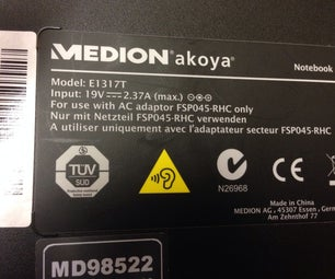 Medion Akoya E1317T HDD Removal Upgrade