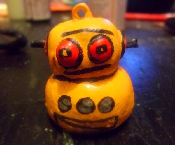 Glow in the Dark Robot Pendant