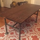 Vintage Style Pipe Table