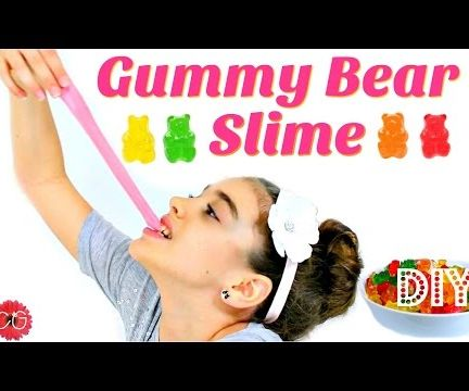DIY GUMMY BEAR SLIME!  EDIBLE SLIME!