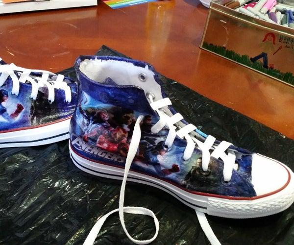 DIY Marvel Shoes