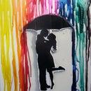 Crayon Drip Art