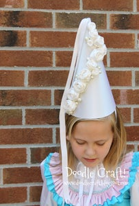 Princess HENNIN Hat Tutorial! DIY!
