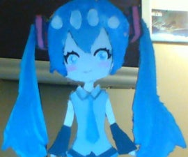 Cardboard Hatsune Miku