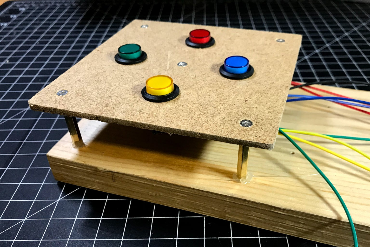Attach Button Switch Unit to the Main Board