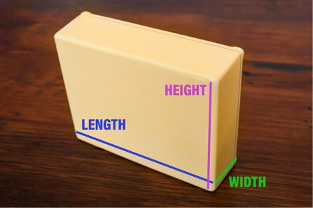 Measuring the Width of a 3D Rectangular Object