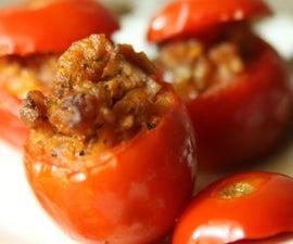Stuffed Red Cherry Tomatoes