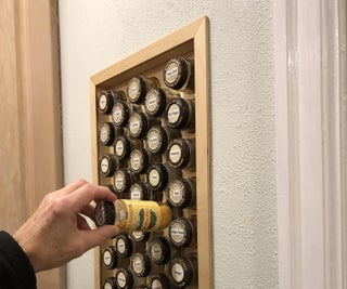 Hole-in-the-Wall Spice Rack