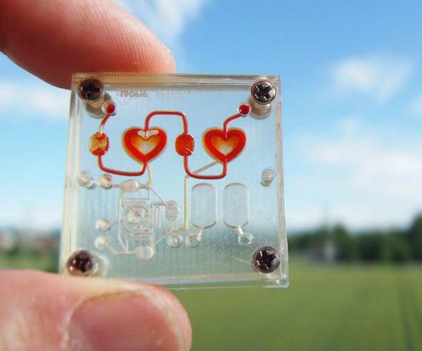 Pulsing Fluidic Heart Micropump