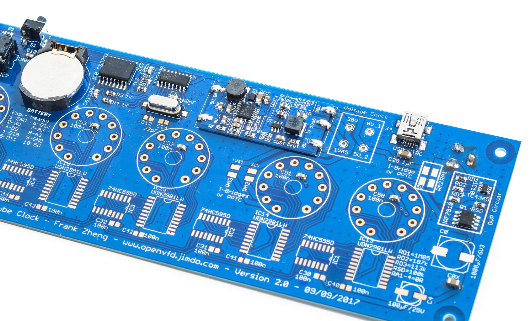 Building OpenVFD: the Circuit Board & Assembly
