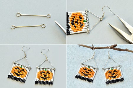 Make the Rest Part of the Seed Bead Earrings