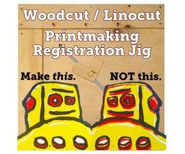 Woodcut & Linocut Printmaking Registration Jig