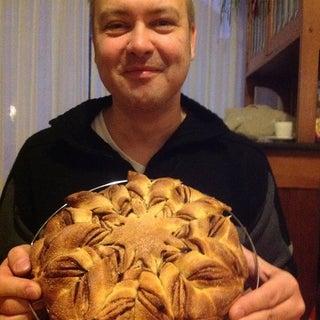 Star Shaped Brioche Bread