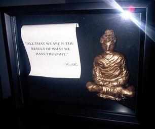 Super Sculpey Buddha in a Shadow Box