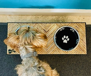Plywood Pattern Dog Bowl Stand!