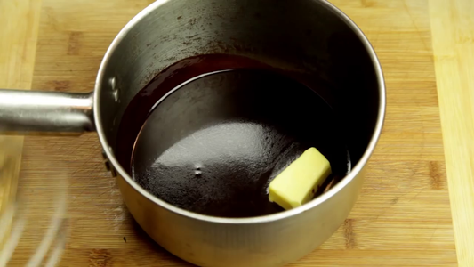 Once the Jus Has Reduced by Half Take It Off the Heat and Add Knobs of Butter.