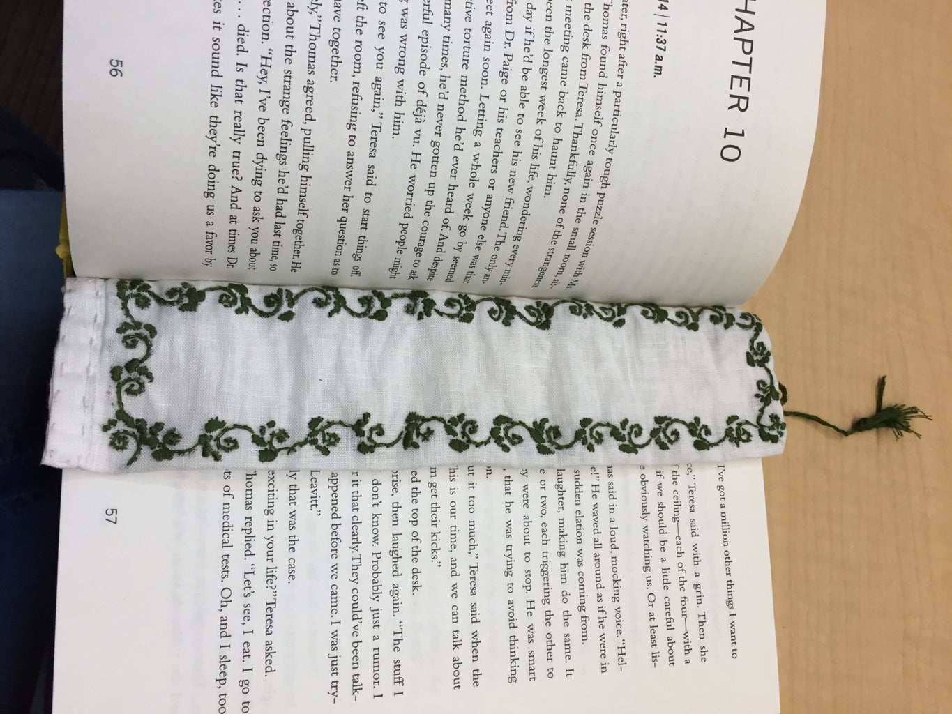 Embroidered Bookmark With Tassel