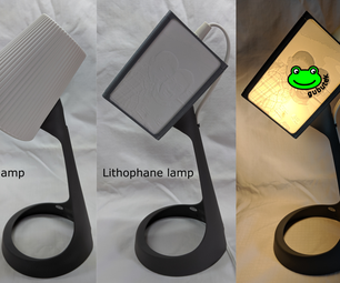 Lithophane Lamp From IKEA SVALLET Work Lamp