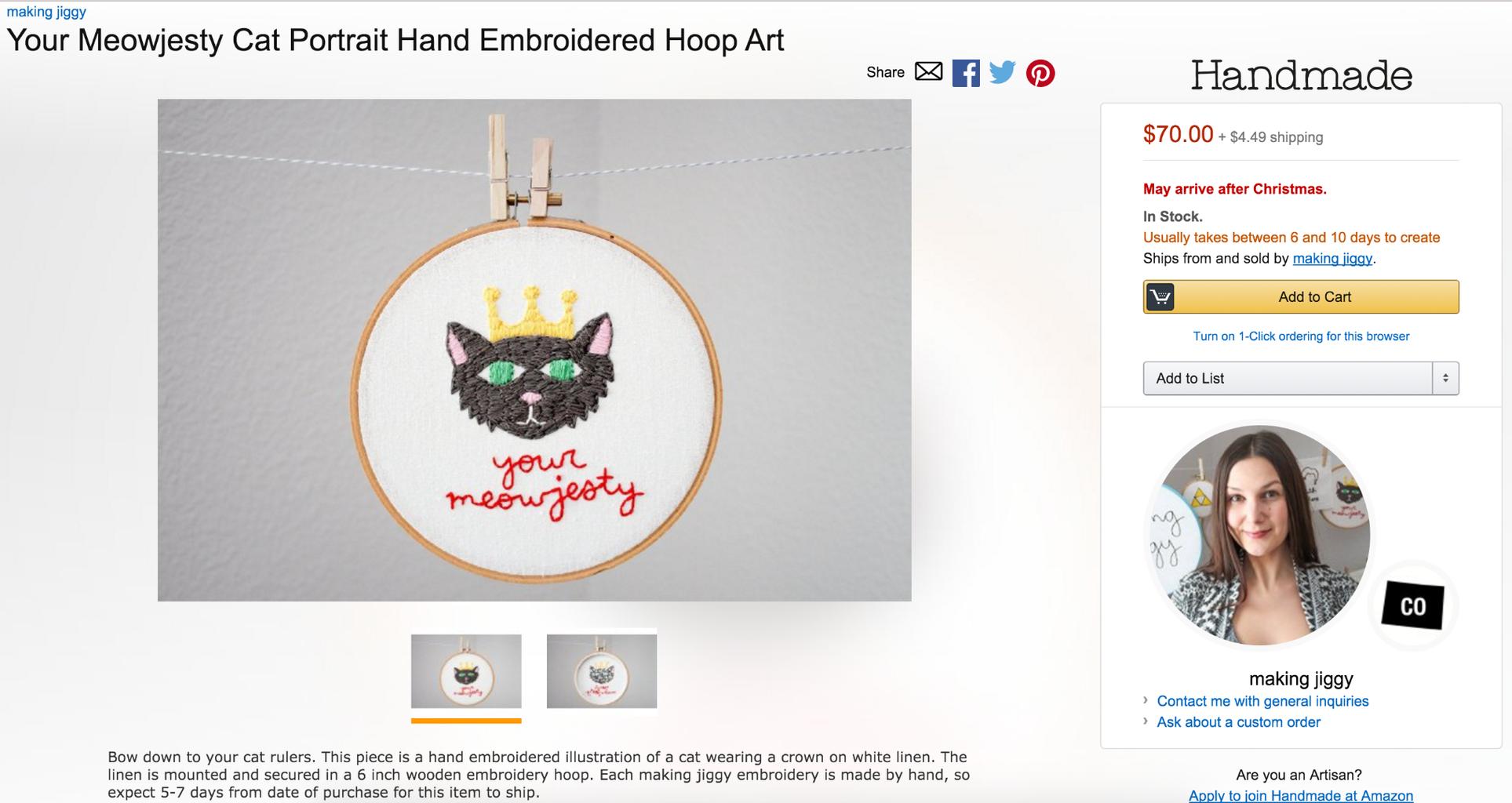 Creating a Handmade at Amazon Listing