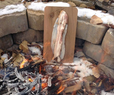 How to Cook Campfire Planked Fish