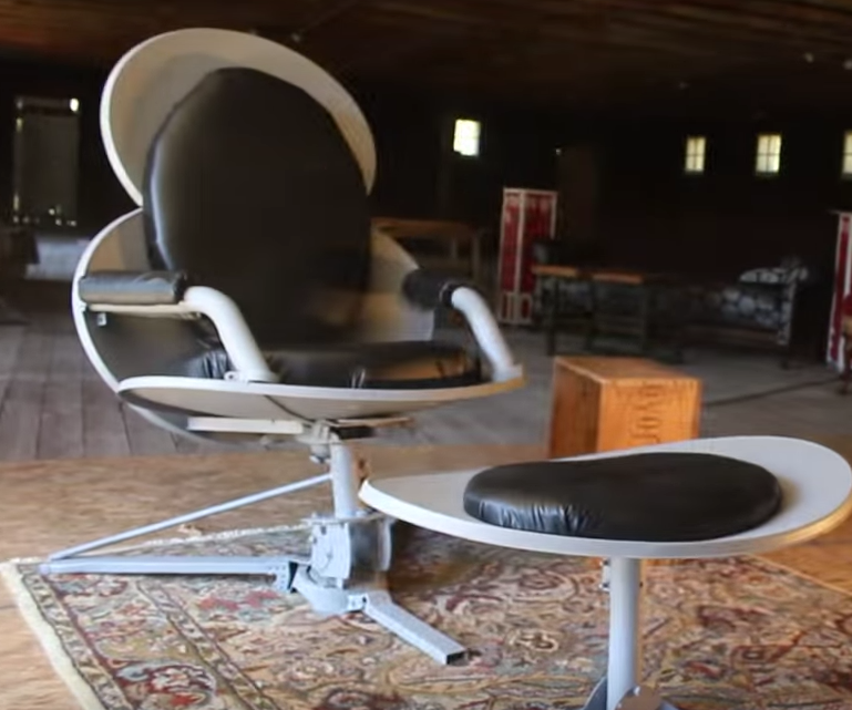Eames-Style Chair Made From Satellite Dishes