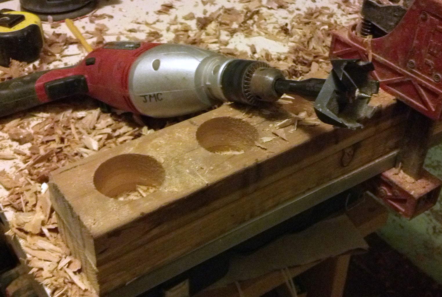 Glue, Drill, Cut, and Drill One More Time