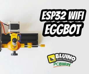 ESP32 Wifi Eggbot - Drawing Robot Plotter Pen