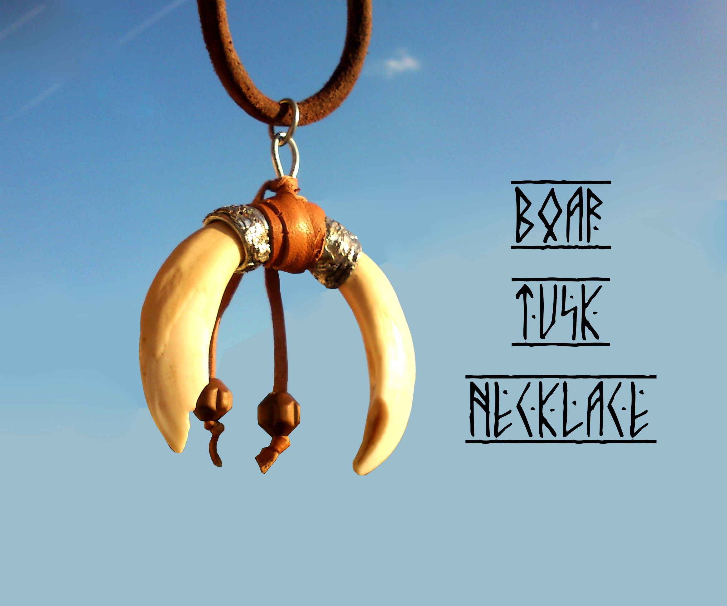 Boar tusk necklace