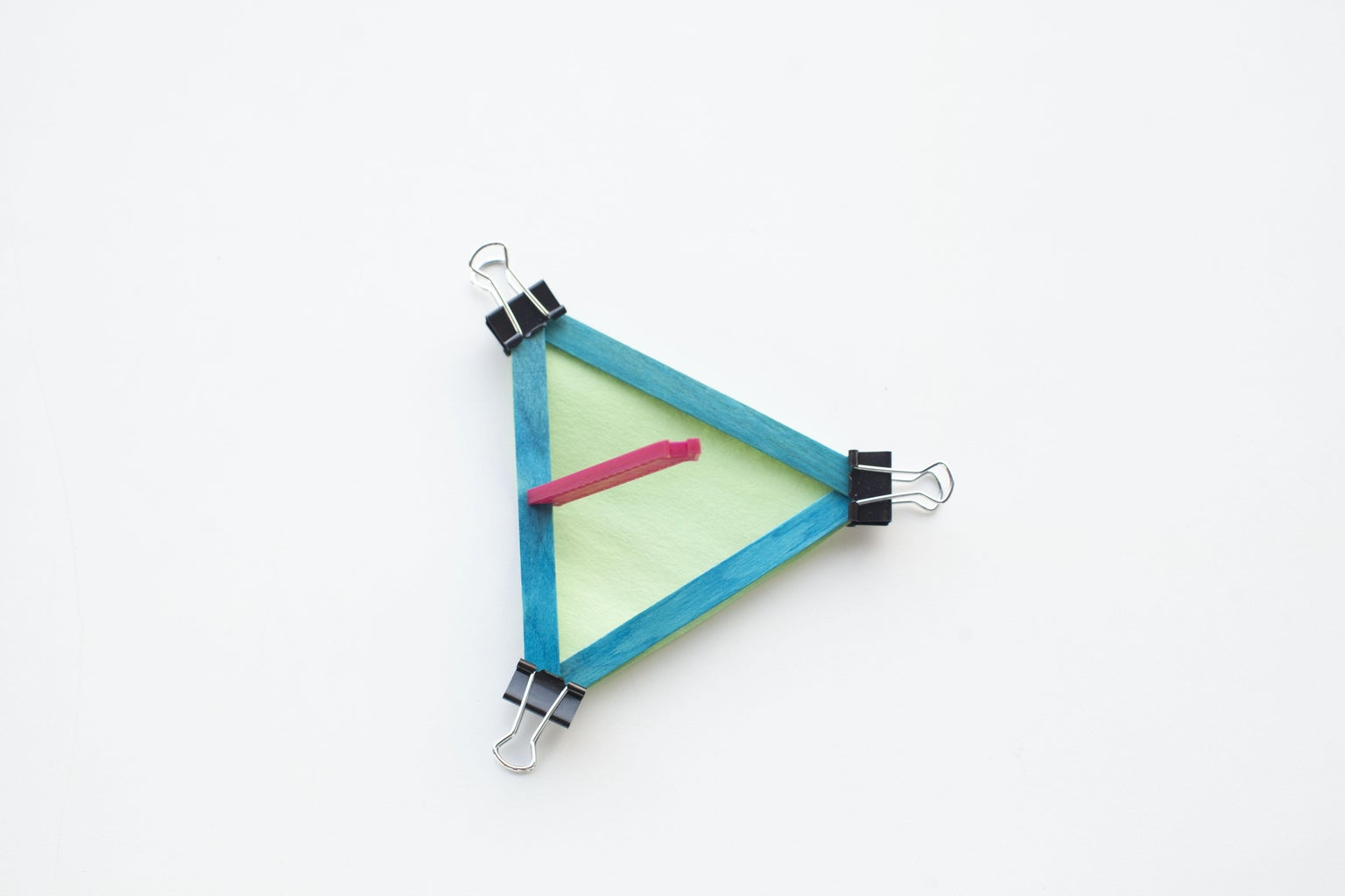 Add Binder Clips to Each Triangle