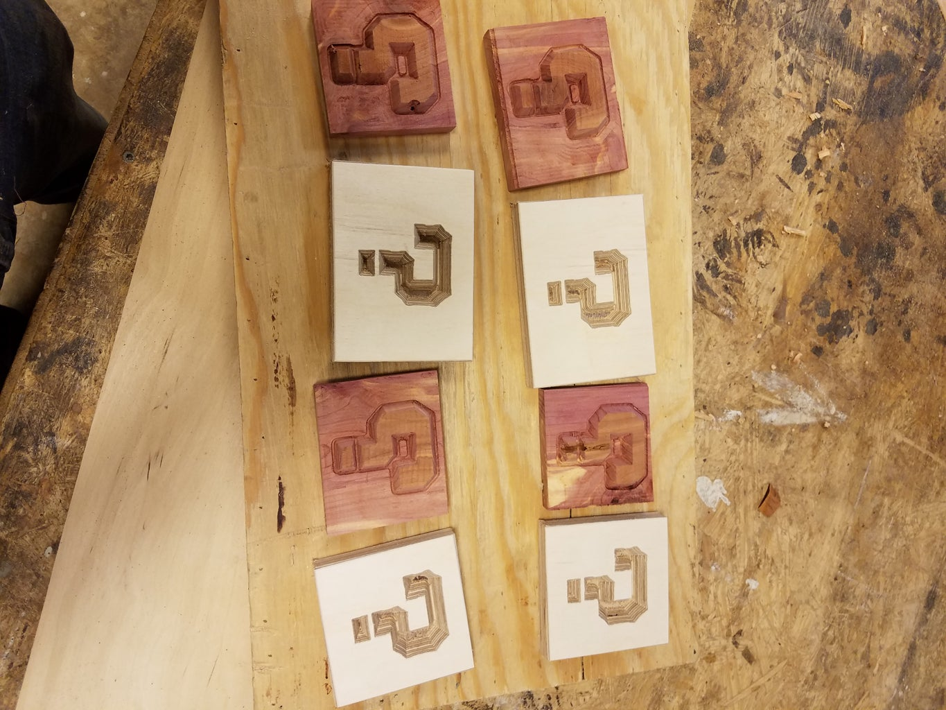 Glue Up and Separating the Pieces