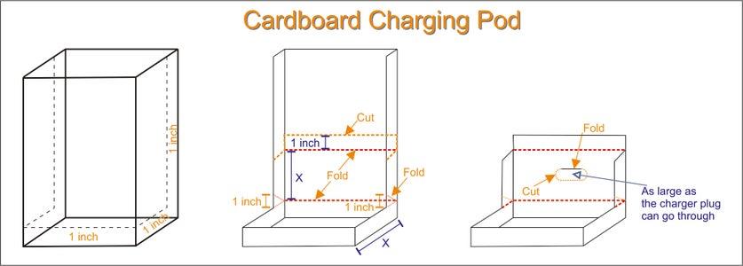 Cardboard Charging Pod