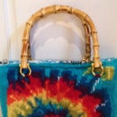 Faux Tie Die Knit Lunch Bag