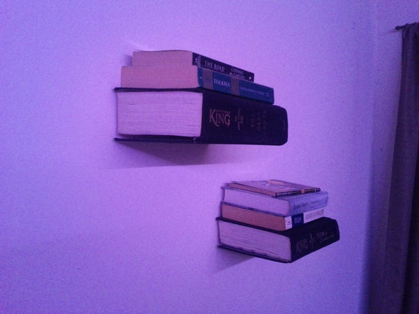 Invisible Wall-mounted Bookshelf