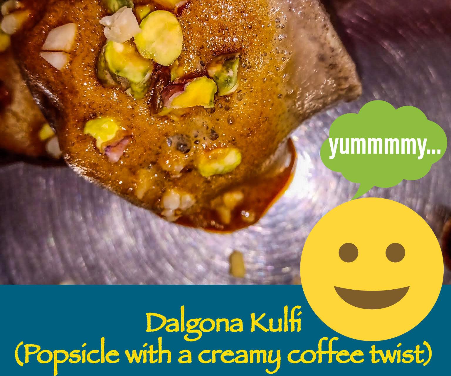 Trendylicious Dalgona Kulfi(Popsicle With a Coffee Twist)!