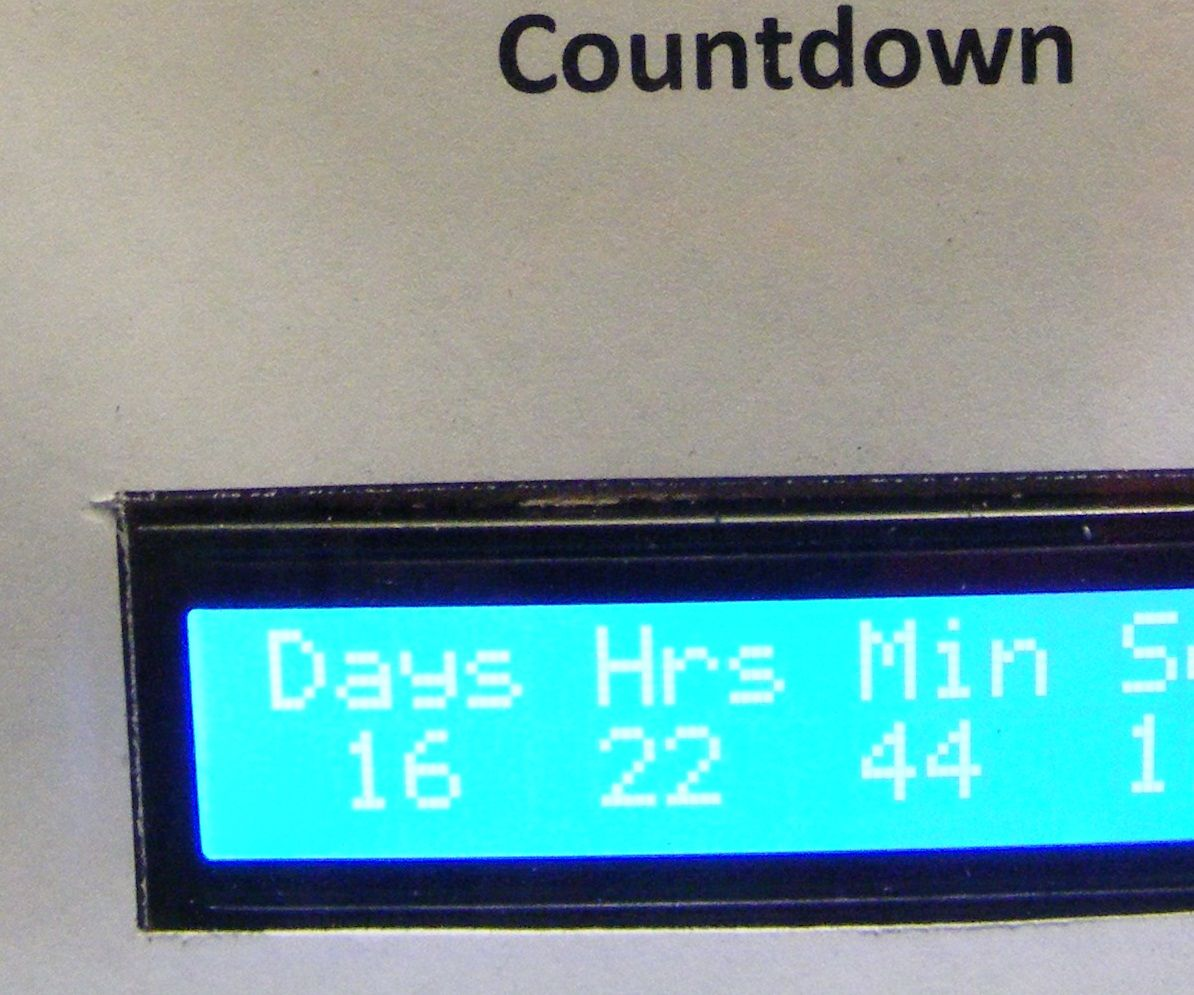 Presidential Inauguration Countdown Clock (Wifi)