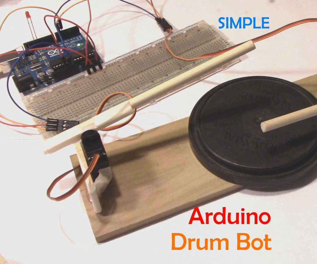 Simple Arduino Drum Robot
