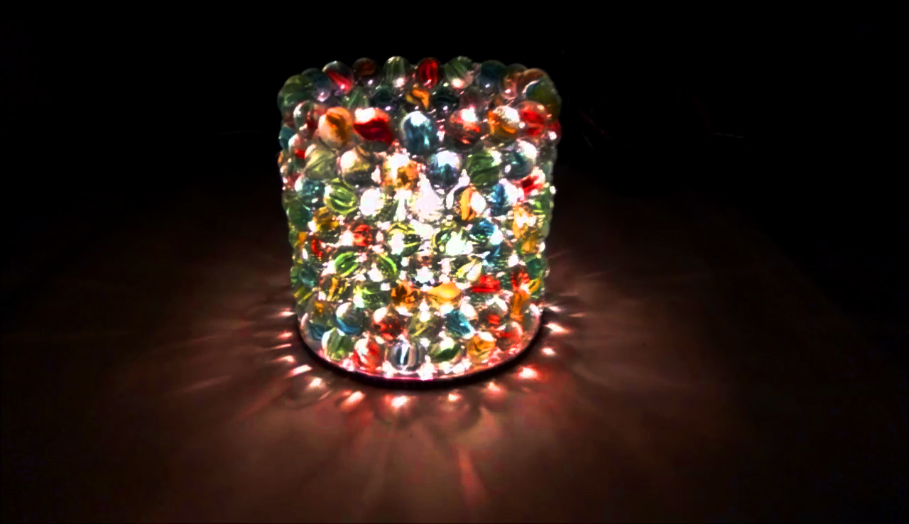 How To Make A Diy Lamp Shade With Glass Marbles 8 Steps Instructables