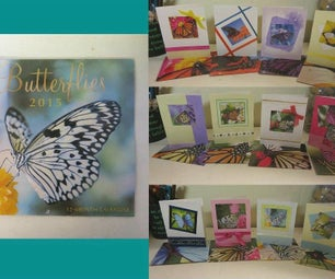 Matching Greeting Cards and Envelopes From a Calendar and Some Index Cards