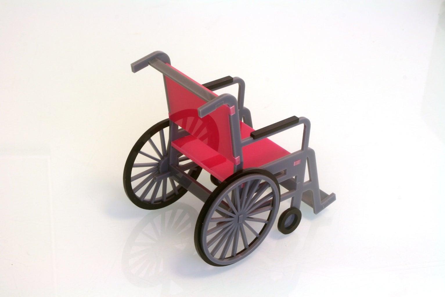 Laser Cut Wheelchair Model.